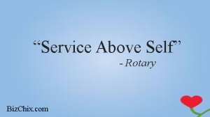 Service above self. by Rotary from Episode 50: Veronica Cockerham - BizChix.com