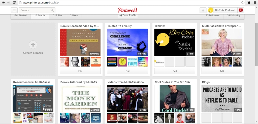 BizChix's Pinterest Boards