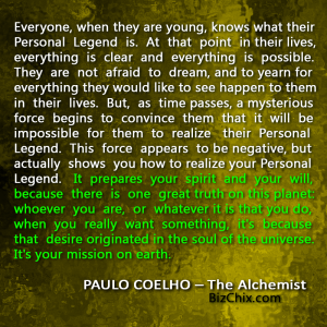 "essay on personal legend We will write a custom essay sample on ""the alchemist"" analysis specifically for   fatima, however, insists that he seek out his personal legend before they."