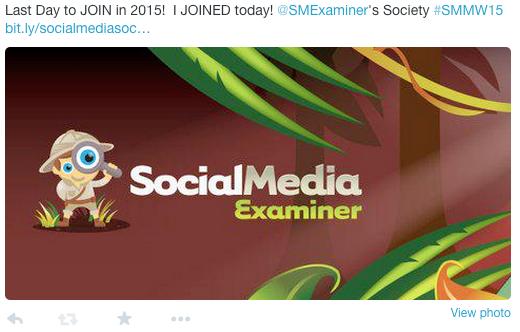 Social Media Tweet