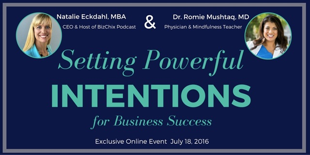 Business Intention Setting Workshop - BizChix.com