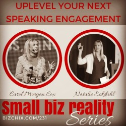 Uplevel Your Speaking with Carol Cox and Natalie Eckdahl