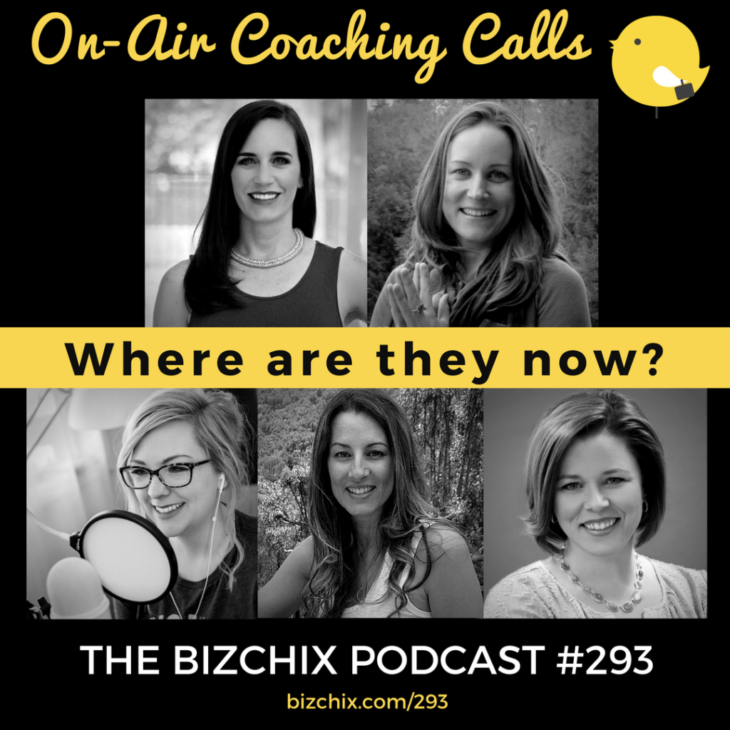 293: [On-Air Coaching] Where Are They Now? Updates with Christina Nicholson, Shannon Crow, Lilah Higgins, Julie Hefner, and Tara Lynn Foster